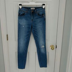 Madewell High-Rise Skinny Jeans in Sadie Wash
